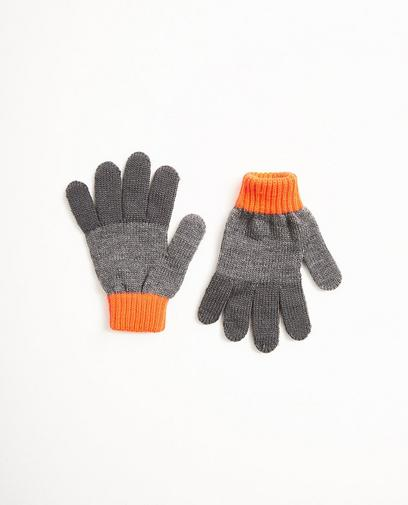 Color block handschoenen